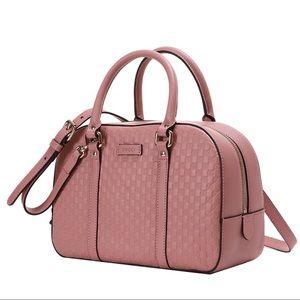 🌸Gucci Women's Micro GG Pink Satchel Purse Bag